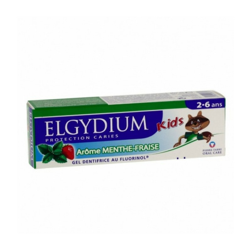 Elgydium dentifrice protection caries kids menthe-fraise 50ml