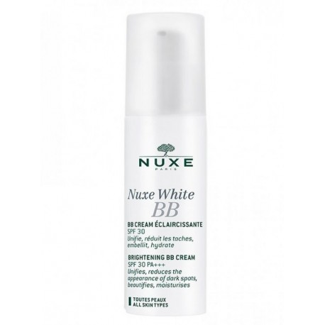 NUXE WHITE BB CREAM ECLAIRCISSANTE SPF30, 30ml