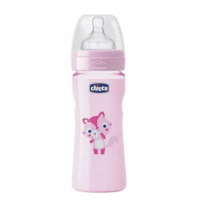 Biberon 4m+ - 330ml (Rose) Chicco