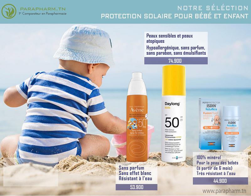 Protections solaires bébés et enfants